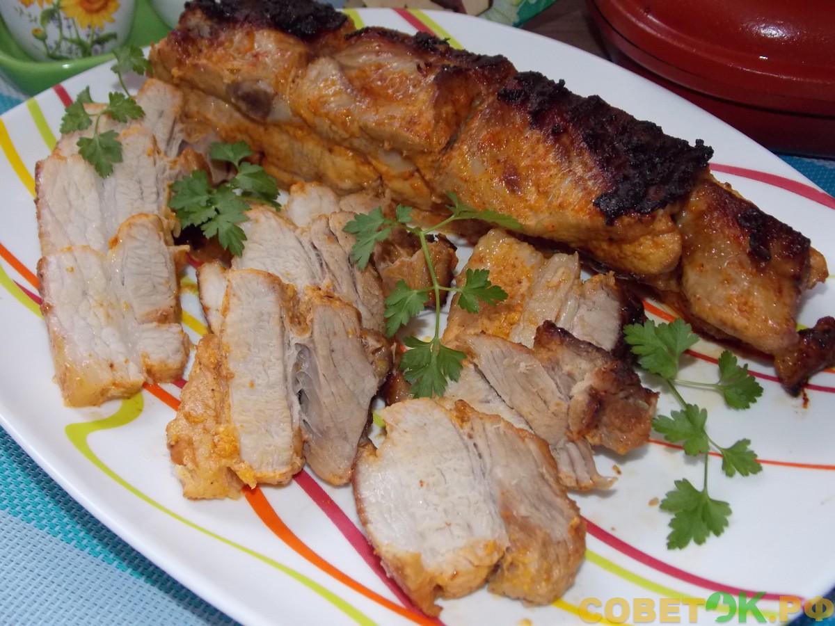 Рецепт для двусторонней сковороды (Happycall, «Турбогриль», «Мастер жар»). Запеченная свиная прослойка