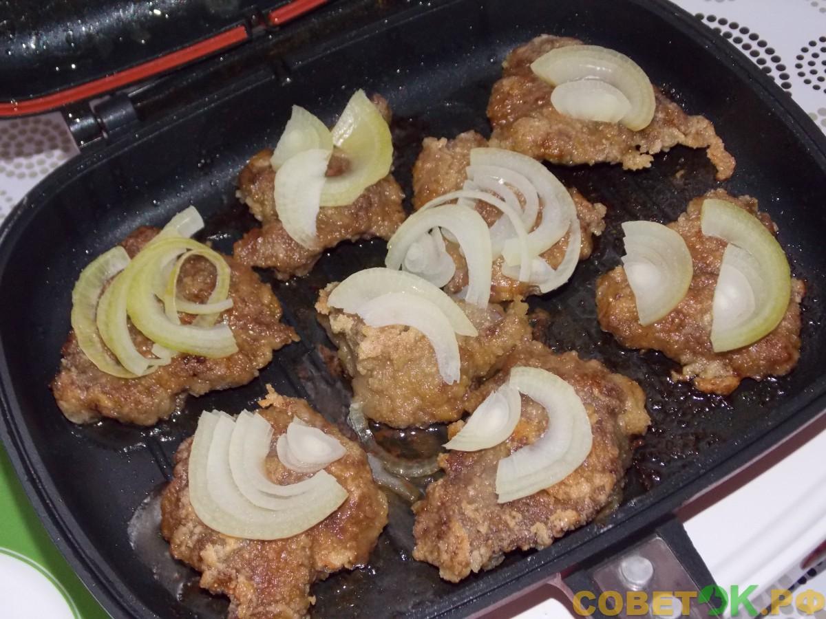 Рецепт для двусторонней сковороды (Happycall, «Турбогриль», «Мастер жар»). Жареная печень с луком