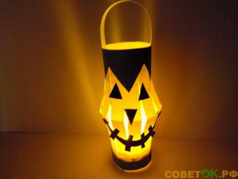 Как сделать фонарик в виде тыквы на Хэллоуин
