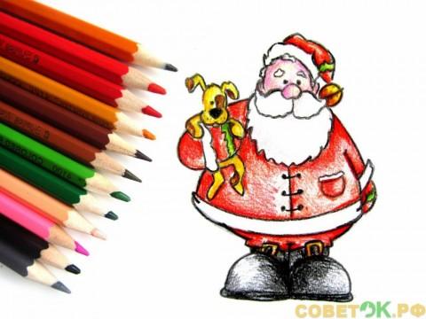 Как поэтапно нарисовать Деда Мороза