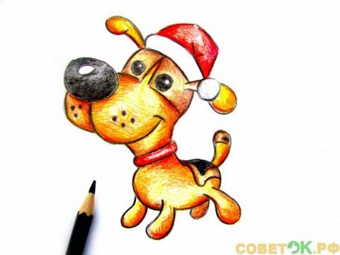 Как поэтапно нарисовать собаку