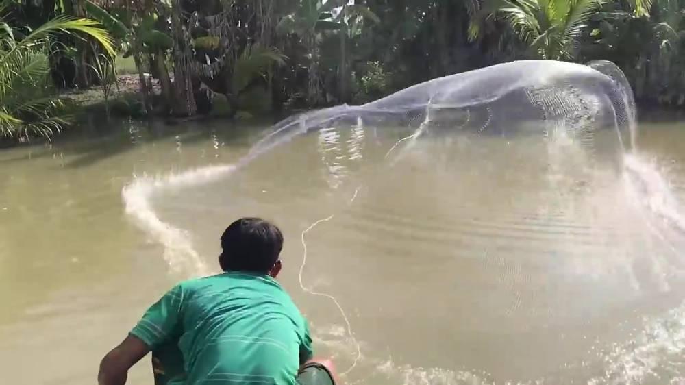 Кастинговая рыболовная сеть ловушка findfish