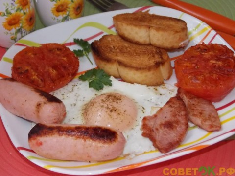 Сытный завтрак по-ирландски