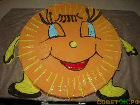 Десерт для малышей. Весёлый торт «Солнышко»