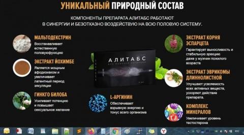 АЛИТАБС таблетки для потенции - Развод